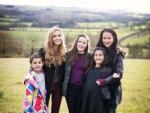 Girls in field