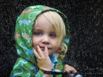 Child in the rain
