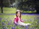 Child in blue bells