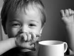 smiley toddler tea cup