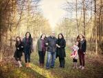 woodland family portrait