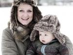 Snow baby fur hats