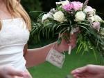 Bride Flowers Just Married