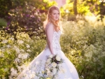 Bride in woodland